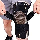 Thx4COPPER Rodillera de compresión deportiva con correa ajustable, alivia la artritis, el dolor de rodilla, MCL, para correr, baloncesto, sentadillas, tamaño XXL