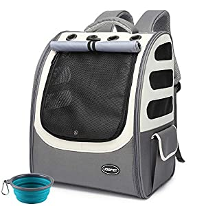 UOOPET Cat Carrier,Large Cat Backpack for 2 Cats,Airline Approved Pet Carrier,Dog Carrier for Small Dogs,Dog Travel Bag,Dog Backpack for Hiking