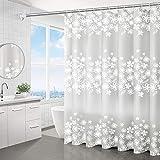 WEIXINHAI Duschvorhang Im Bad Shower Curtains 72 x 72 Zoll Aus 100prozent PEVA DuschvorhäNge Anti-Schimmel Rostschutzdichtung 12 Duschvorhangringen
