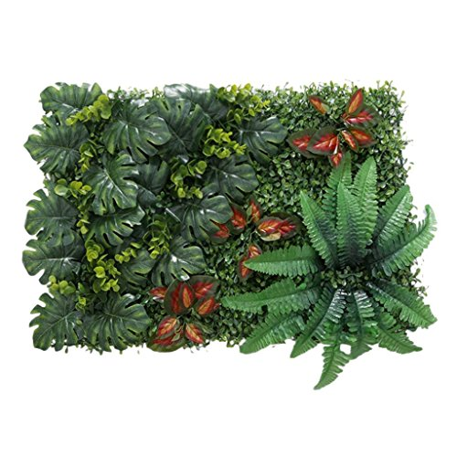 wivarra Artificial Grass DIY Miniature Lawn, Garden Ornament, Red Leaves