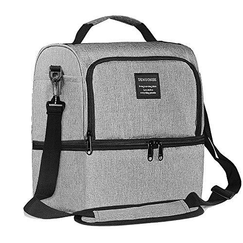 AUDICK Kühltasche Klein, Aufgerüstet Lunchtasche Isolierte für Herren/Damen/Kinder mit Zwei Fächern und Wasserdichter, Auslaufsicherer Kühltasche für Arbeit/Schule/Picknick