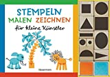 Stempeln, malen, zeichnen-Set: für kleine Künstler. Buch mit 10 Holzstempeln & 2 Stempelkissen