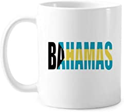 Bahamas Country Flag Name Classic Mug White Pottery Ceramic Cup With Handle 350ml Gift