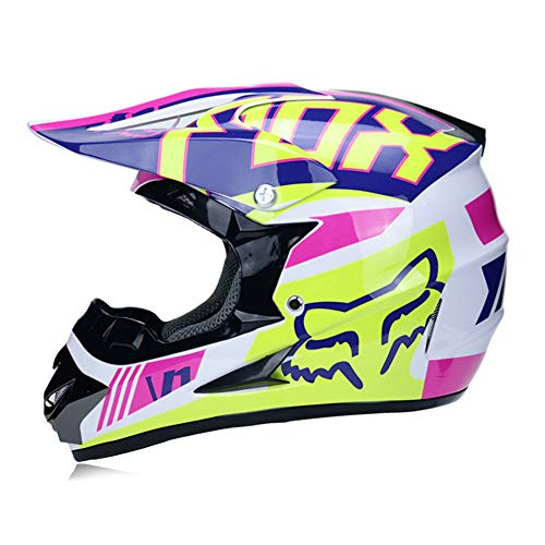 Casco Motocross Homologado Casco Moto Integral Unisex para Moto Cross Descenso Enduro...
