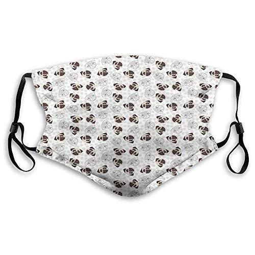 wiederverwendbar grau//schwarz staubdicht atmungsaktiv Mundschutz Kalender mit Hundemotiv bequem winddicht waschbar