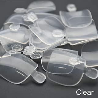 100Pcs Artificial Acrylic Toe False Nails Tips Natural/White/Clear Foot Nails Manicure Art Decoration Faux Ongles JZJ3009 (Color : Clear)