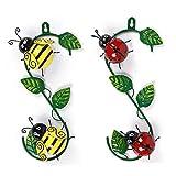 CJLEWDYD Metal Ladybird Wall Art,Garden Wall Art Ladybugs Decorative,Iron Ladybug Metal Animal Hanging Wall Art Hanger Indoor Outdoor Garden Home Decoration