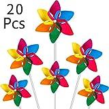 Modou 20x Windmühle Windrad Windspiel für Garten & Kinder Gartenstecker