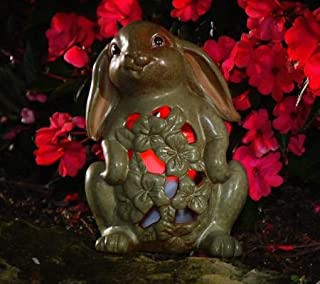 QVC Home Reflections Bunny Garden Spring Luminary with Flameless Candle and Timer