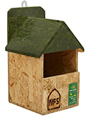Nature Forever Nest Box for Robin and Other Garden Birds, Brown