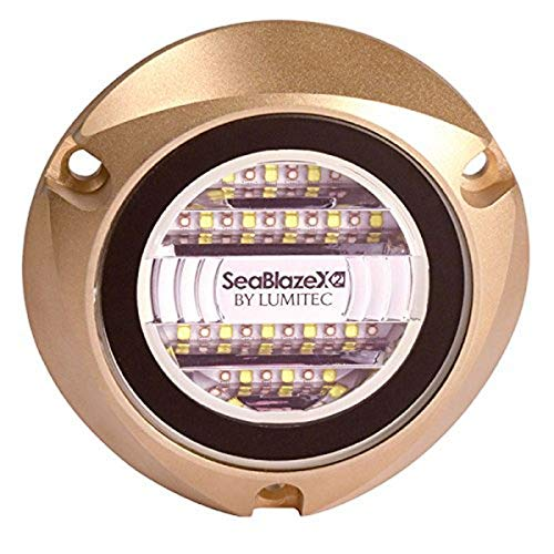 SeaBlaze X2 Underwater Light, Bronze, White/Blue