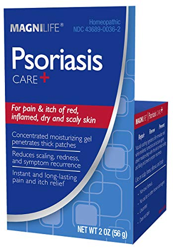 MagniLife Psoriasis Care+ Instant, Long-Lasting Natural Pain & Itch Relief - Intense Moisturization Helps to Reduce Redness, Scaling & Flaking on Body & Scalp - Unscented, Non-Toxic -2oz