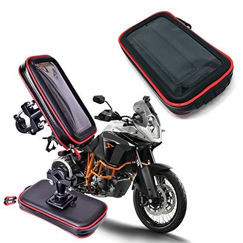 WSTERAO Soporte para teléfono Celular para Motocicleta, Bolso Impermeable para teléfono Celular para Bicicleta, Bolso para Manillar de Motocicleta, Pantalla táctil y Soporte para Cubierta