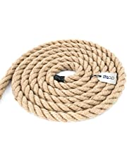 DQ-PP JUTE ROPE | 3-strand | bruin koord van 100% natuurlijke vezels | zadelen, transport en industry | DIY, decoraties en ambachten | thuis en tuin, 16mm, 10 m., 1