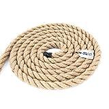 DQ-PP CUERDA DE YUTE | Longitud 10m | Grosor 20mm | Cuerda de Fibra 100% Natural Marrón | Cuerdas decorativa | Decoracion de bricolaje | Macramé | Accesorios de Jardin