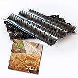Baguette-Blech antihaft-beschichtet Baguette backen mit perforierten Backblech mit Baguette Rezepte eBook