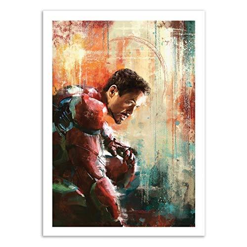 Wall Editions Art-Poster - Iron Man - Wisesnail