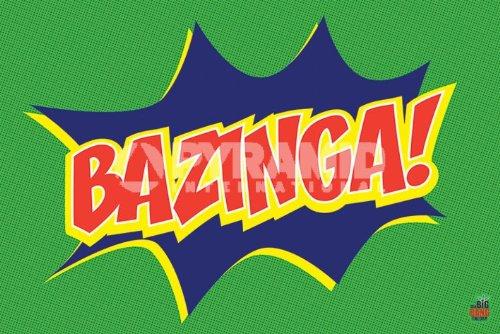 MoviePostersDirect The big Bang Theory Bazinga (Icon) Maxi Poster 61 cm x 91,5 cm