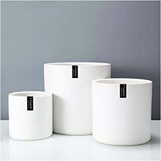 "Fopamtri Plant Pot Set Matte White Ceramic Planter for Indoor Outdoor Plants Flowers Small 6"" Medium 8"" Large 10 Inch Mode..."