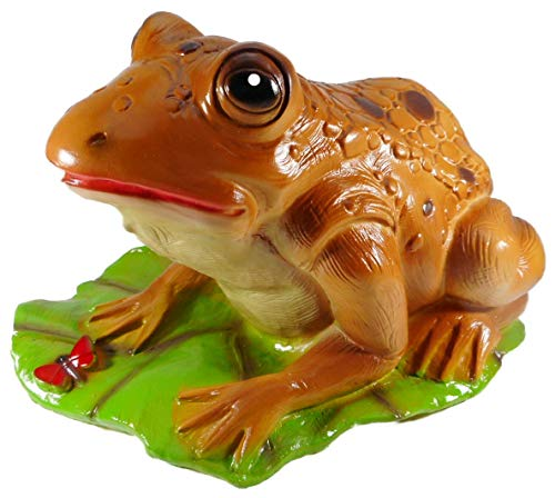 Wasserspeier Kröte Frosch 17 x 21 x 29 cm, 725 Gramm Zwerg Garten bruchfest PVC Deko GRS 0738ws
