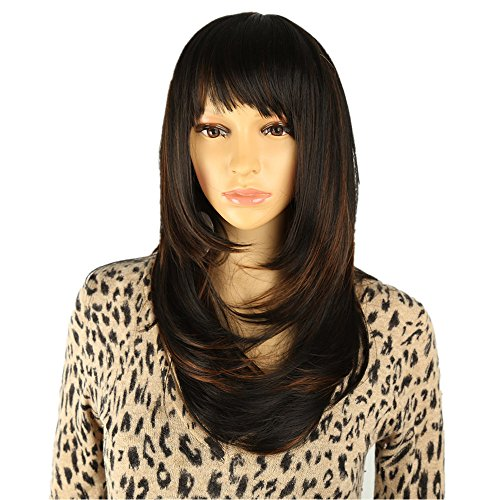 Longlove Charmant Perruques Nouvelle Mode Femme fête Big ondulés sexy complète Perruque de cheveux humains Cheveux naturelles + une perruque