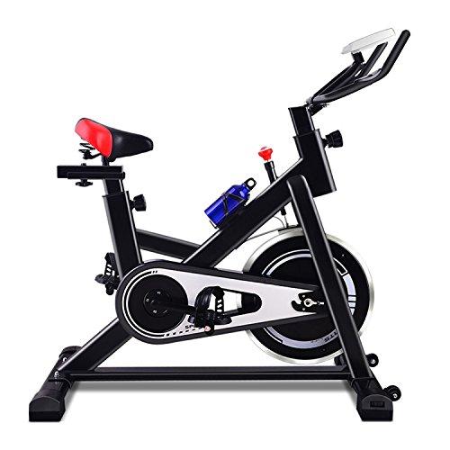 YHSport Indoor Cyclette Da Allenamento, Silenzioso Silent Spin Bike Gym Studio Cycles Exercise Machines Resistenza Magnetica Regolabile Black