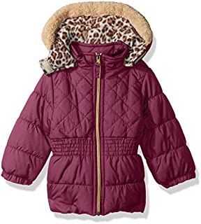 Pink Platinum Baby Girls Quilted Puffer
