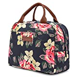 LOKASS Lunch Bag Cooler Bag Women Tote Bag Insulated Lunch Box Water-resistant Thermal Lunch Bag Soft Liner...