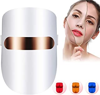 Acne Treatment LED Light Therapy Mask Facial Unlimited Sessions for Acne Face Skin Lights of Red/Blue/Orange