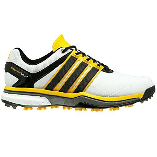 adidas Adipower impulso Golf Scarpe Bianco/Core Nero/Giallo Brillante