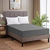 Sweet Home Collection Fitted Sheet -1500 Supreme Collection Fitted Elastic Sheet with Reinforced Corner Elastic Straps - Wrinkle Resistant Premium Soft Comfort - Queen, Gray