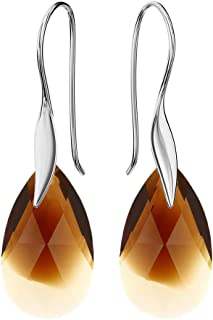 Beforya Paris - Wonder of Heaven - Color Variants - Silver 925 Hook Earrings - Earrings for Woman - Earrings with Swarovski® crystals - Jewellery with Bag and Gift Box PI0/72