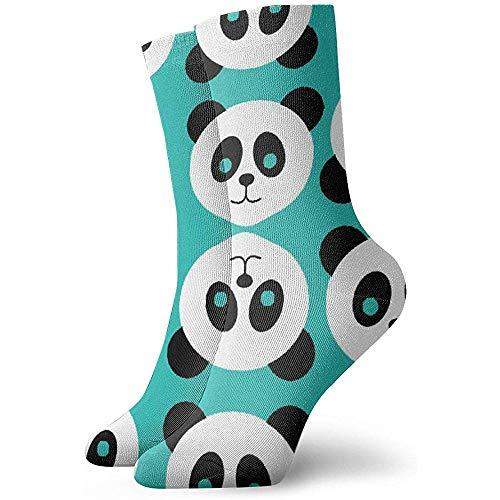NA Neuheit Cool Crazy Funny Dress Sokken - Green Panda Patterns Sokken - geschenken voor mannen en vrouwen