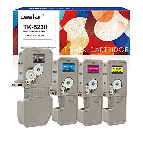 CSSTAR Paquete 4 Compatible Cartuchos Tóner Reemplazo