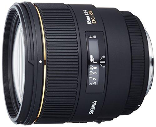 Sigma 85mm EX DG HSM CAF - Objetivo para Canon (85mm, f/1.4, 77 mm), color negro