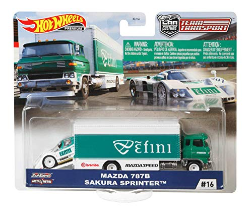 Hot Wheels Premium Car Team Transport - Car Culture (#16 - Mazda 787B + Sakura Sprinter)