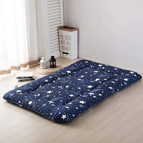 Colchones de tatami de estilo japonés gruesos, colchones plegables, colchonetas de tatami, colchones individuales y dobles, futones beige a rayas, colchones futones de estilo japonés, regalos creativo