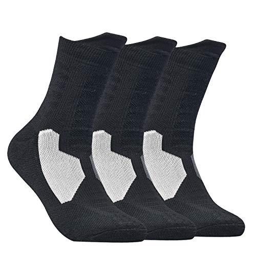 DISILE Elite Basketball Socks, Cushioned Athletic Crew Socks - Thick Sports Socks For Boys Girls Men & Women