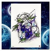 顔の腕の脚のペーストふりのタトゥー一時的な入れ墨のステッカー花タトゥー男と女DIYさん (Color : GTH248)