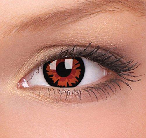 Farbige Kontaktlinsen von EYE EFFECT (Rot/Schwarz - Vampir)