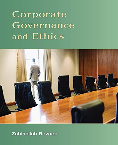 Compare Textbook Prices for Corporate Governance and Ethics 1 Edition ISBN 9780471738008 by Rezaee, Zabihollah