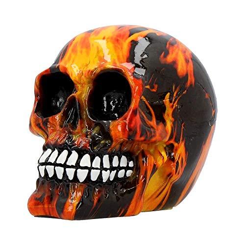 Nemesis Now Inferno Print Mini 11cm Skull Ornament