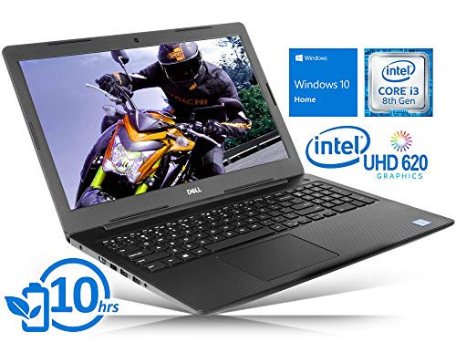 Dell Inspiron 3583 (i3583-3756BLK) Laptop, 15.6' HD Touch Screen, Intel Core i3-8145U Upto 3.90GHz, 8GB RAM, 128GB NVMe SSD, HDMI, Card Reader, Wi-Fi, Bluetooth, Windows 10 Home S
