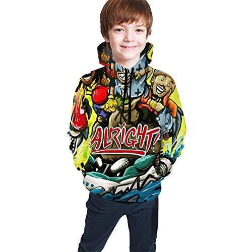 Hidend Kinder Kapuzenpullover Sweatshirt, Trippie Redd Fashion Teen Hooded Sweater Black