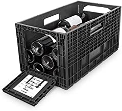 Flexible Wine Storage System for Wine Collectors   Front and Rear Access Door   Stackable Storage Solution   6 Separate Weinbox Storage Crates   Hold Up To 72 Bottles   Works with All Bottle Shapes