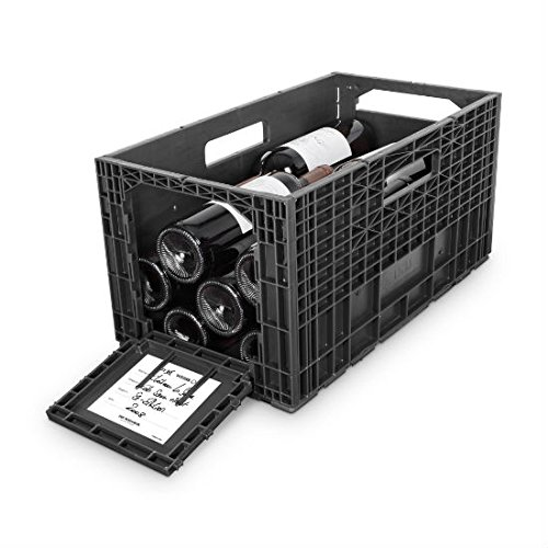 Flexible Wine Storage System for Wine Collectors | Front and Rear Access Door | Stackable Storage Solution | Weinbox 9 Separate Storage Crates | Hold Up To 108 Bottles | Works with All Bottle Shapes