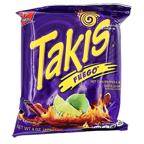 Barcel Chips Takis Fuego 4 Oz Bag by Leadoff