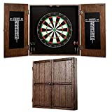 Barrington Webster Bristle Dartboard Cabinet Set: Professional Hanging Classic Sisal Dartboard with Self Healing Bristles and Accessories - 6 Steel Tip Darts