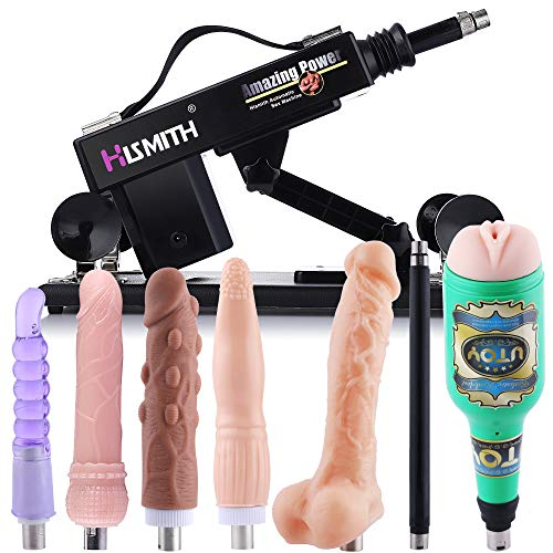 Hismith Sex Machine Quiet Thrusting Machine with Dildo Attachments for Couples Powerful Love Machine for Men Masturbator with 3XLR Connector