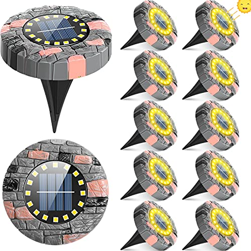 12 Pieces Solar Ground Lights with 16...
